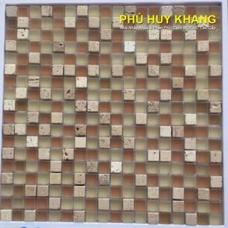 Gạch Mosaic thủy tinh 23x23mm MS46