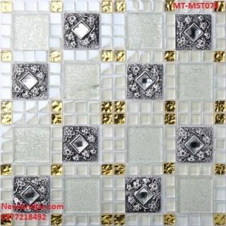 Gạch Mosaic thủy tinh trộn màu MT-MST078