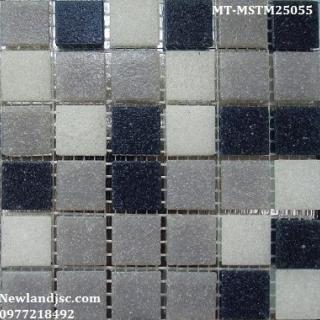 Gạch Mosaic Thủy Tinh mờ trộn màu 50x50mm MT-MSTM25055