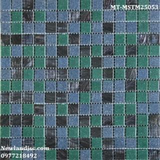 Gạch Mosaic Thủy Tinh Mờ Trộn Màu MT-MSTM25053