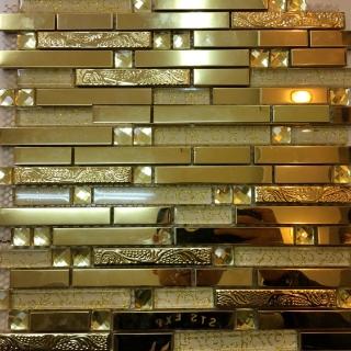 Mosaic Vàng Dài X - 2496