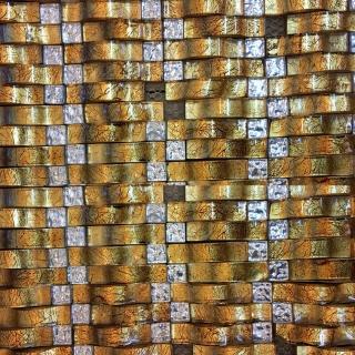 Gạch Mosaic Kính Lồi Gold MS 2688